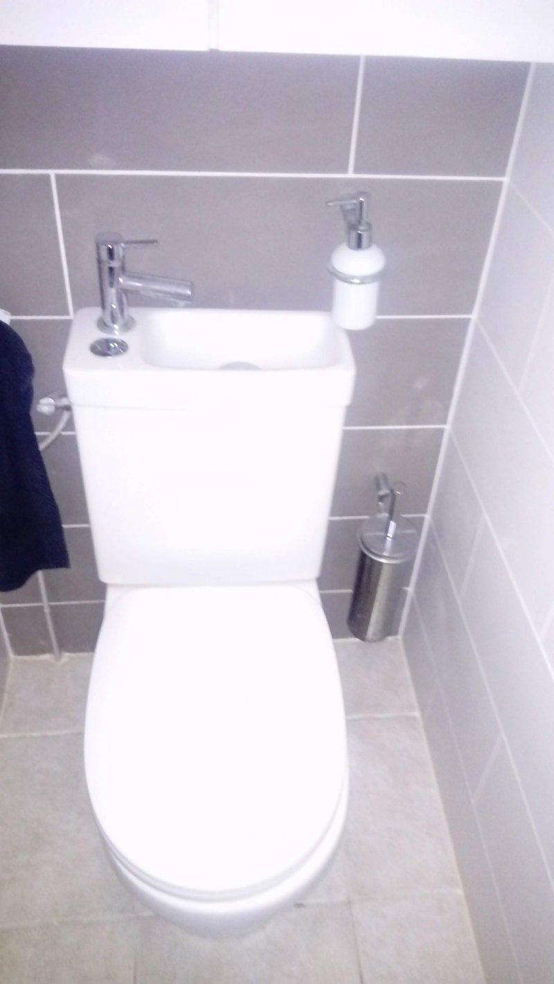 Installation WC lave main intégré