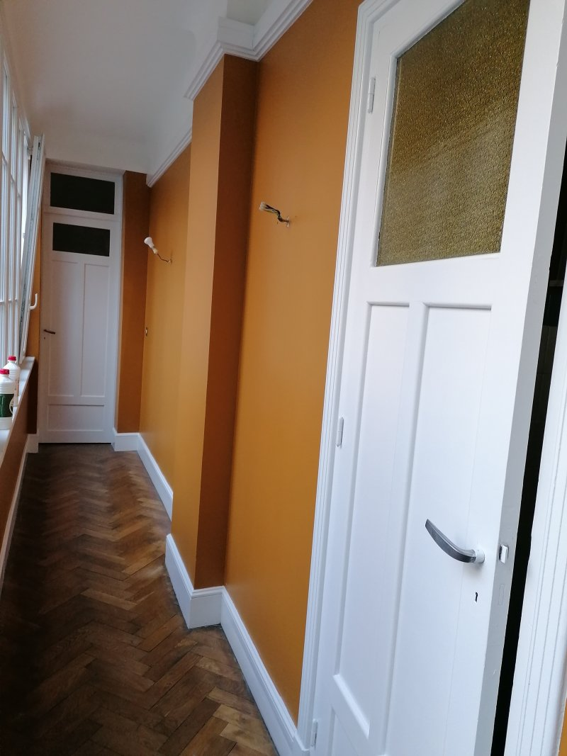 Préparation des murs pour finition peintures murales et boiseries
