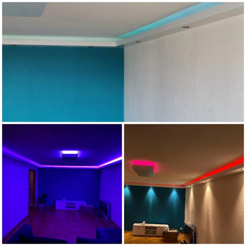 Peinture, Faux-Plafond,Luminaires et Leds