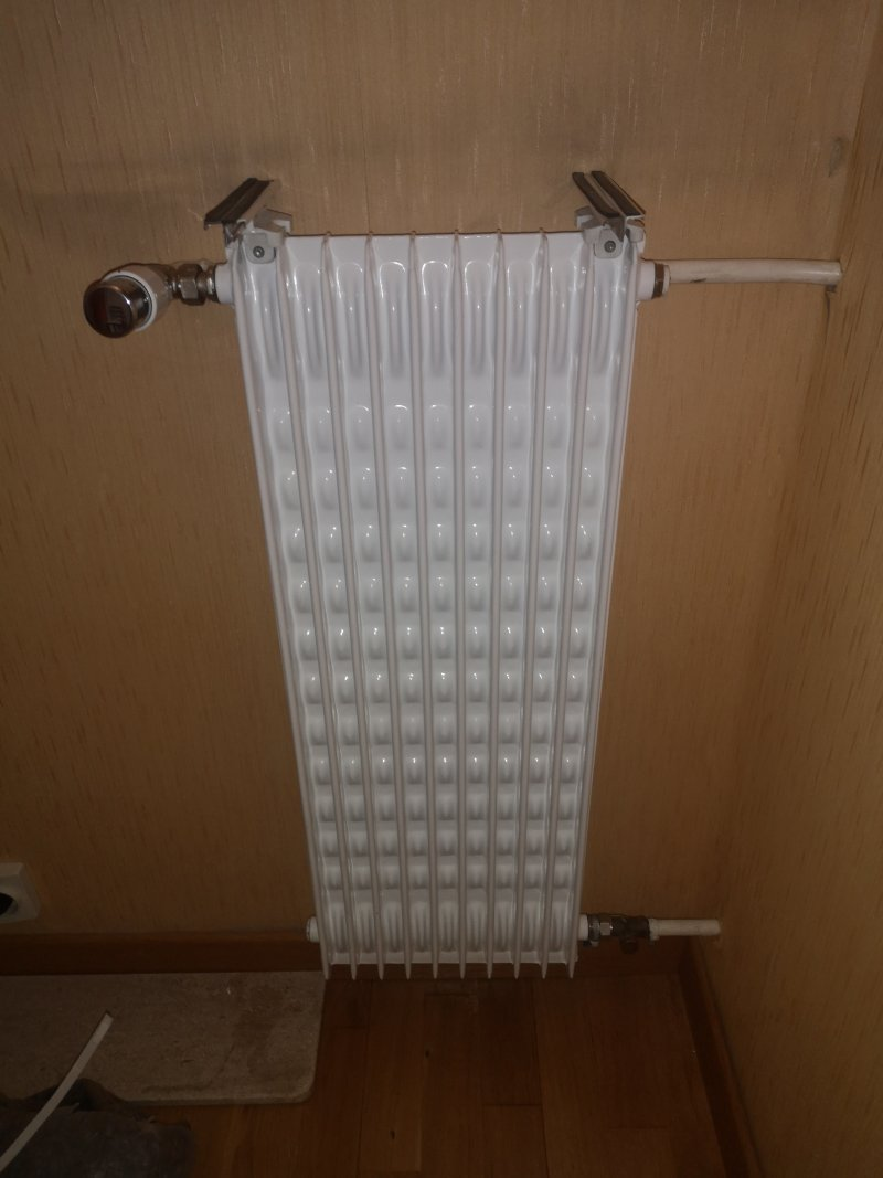 Pose de radiateur