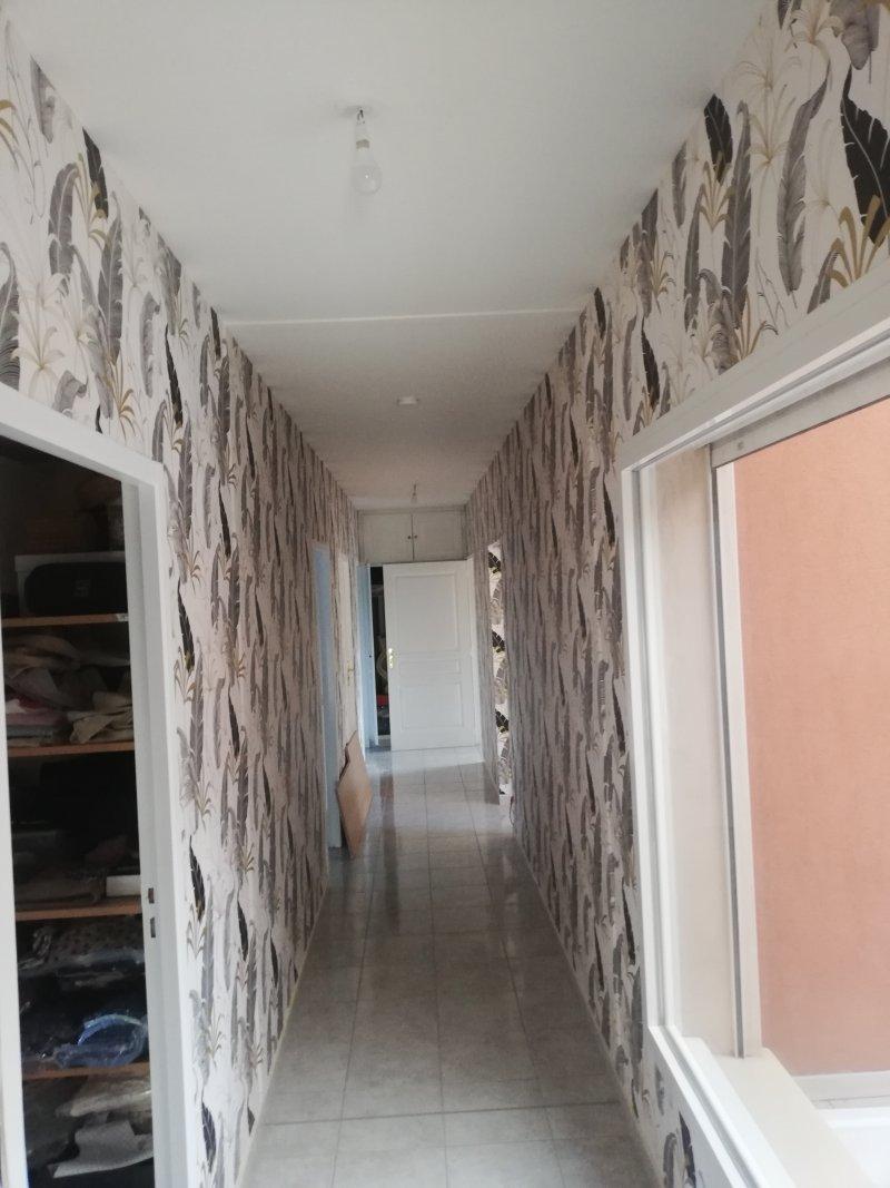 Tapisserie grand couloir