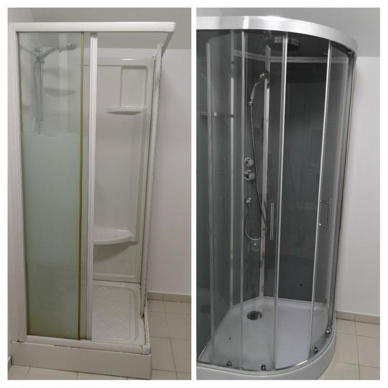 Remplacement cabine de douche