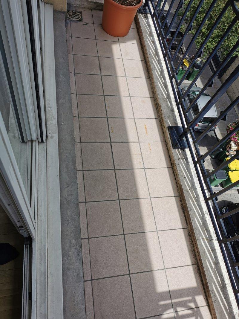 Nettoyage d'un balcon
