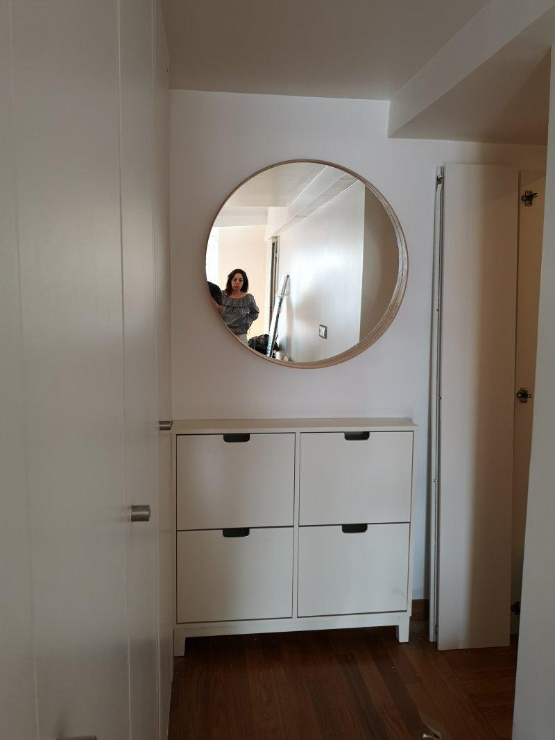 FIxation murale de miroir et de meubles IKEA_Paris 09_Juiller 2020