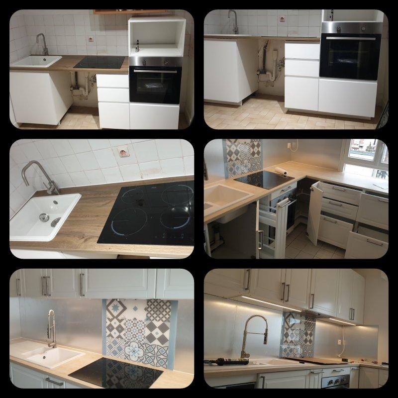 montage et pose petite et grande cuisine Ikea