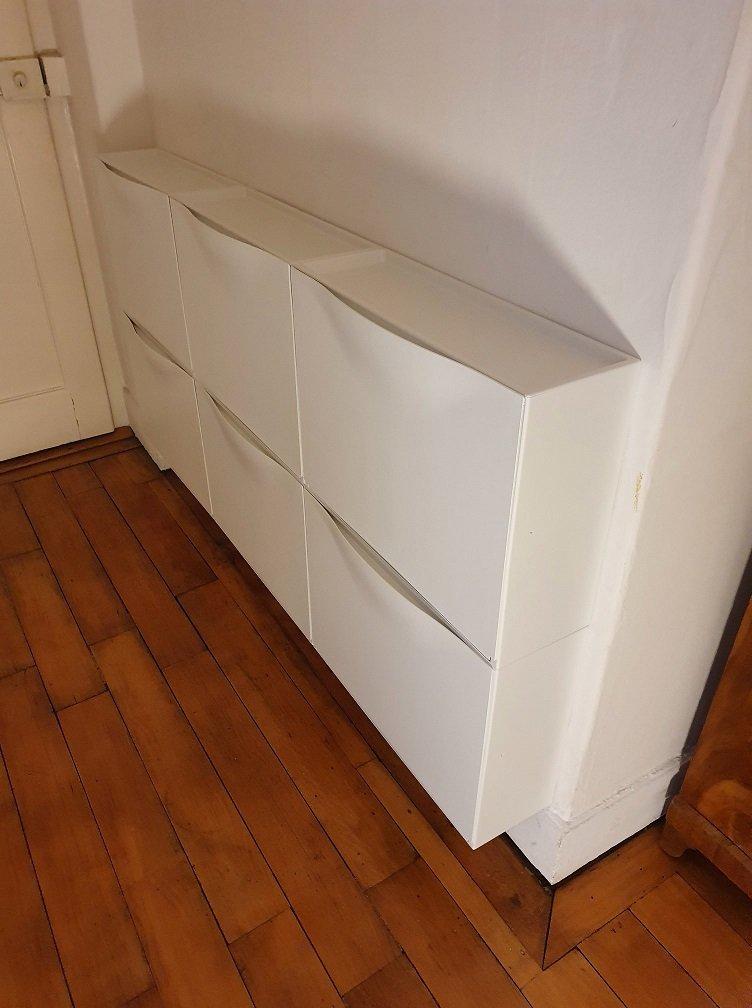 Pose d'armoires à chaussures