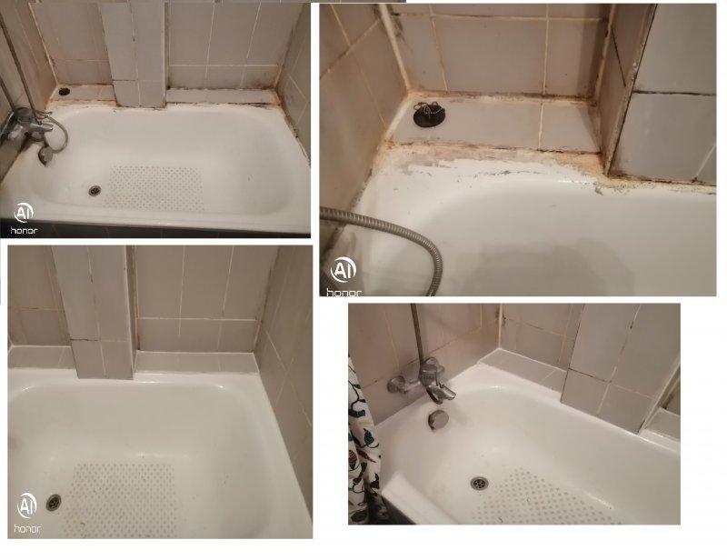 Joints juste autour de la baignoire