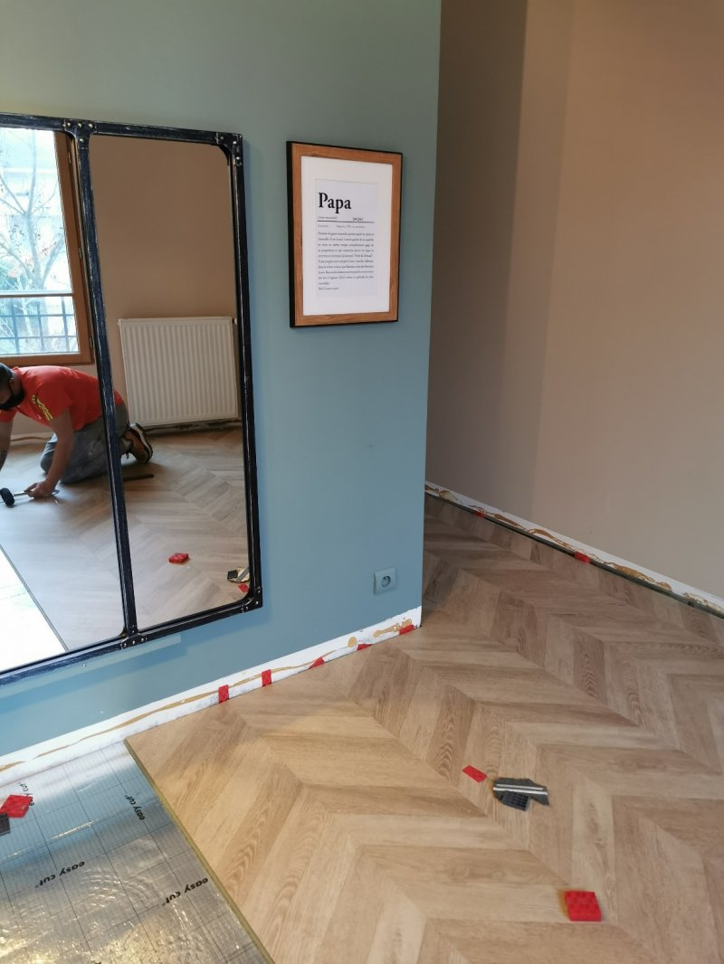 Parquet stratifié point de Hongrie Leroy Merlin