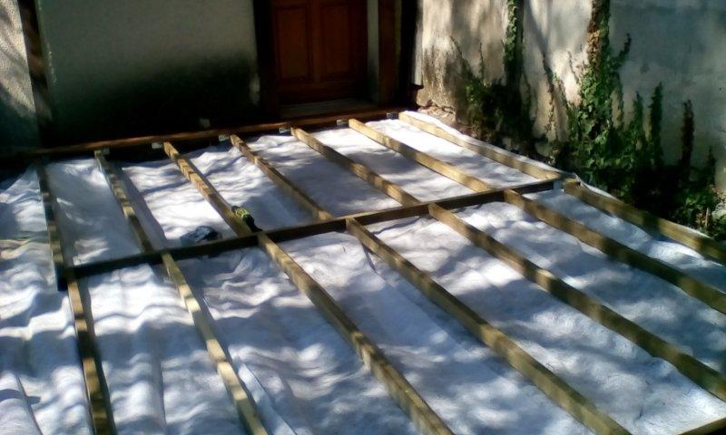 terrasse bois au sol