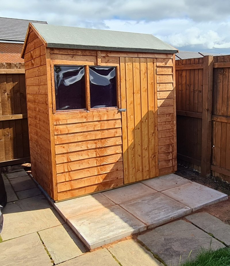 Shed assembly and roofing