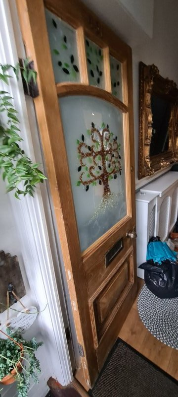Vintage door glazing and fitting