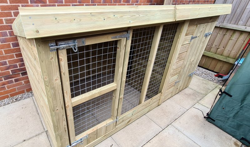 Garden kennel assembly