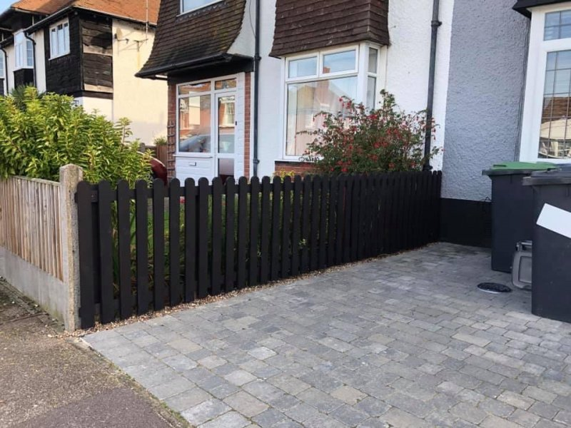 Front garden fence erected and stained