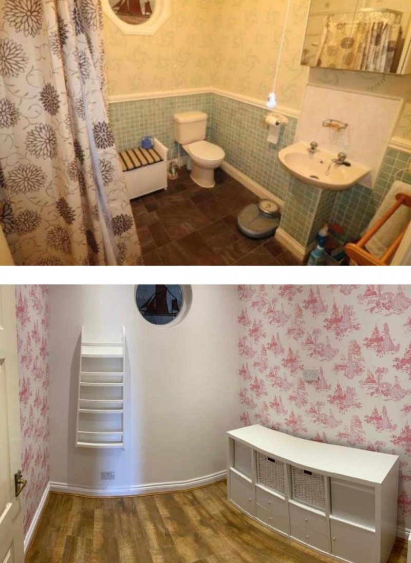 Bathroom converted to kids play room in maldon