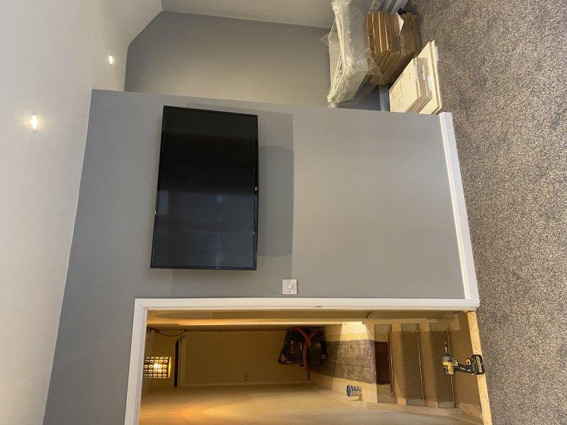 Bedroom redecoration in bishops stortford including new carpet plastering and painting