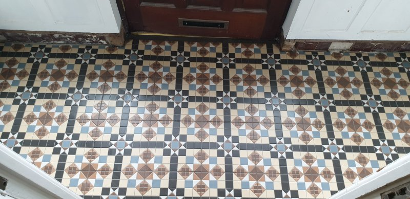Entrance Porch Floor Tiled by Tilers NW