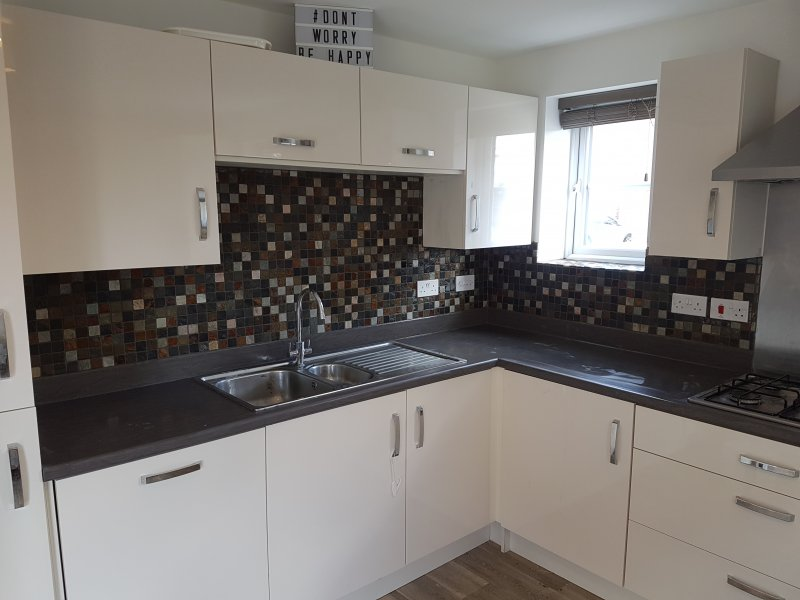 Kitchen Walls Tiled in Mosaic Tiles by Tilers NW