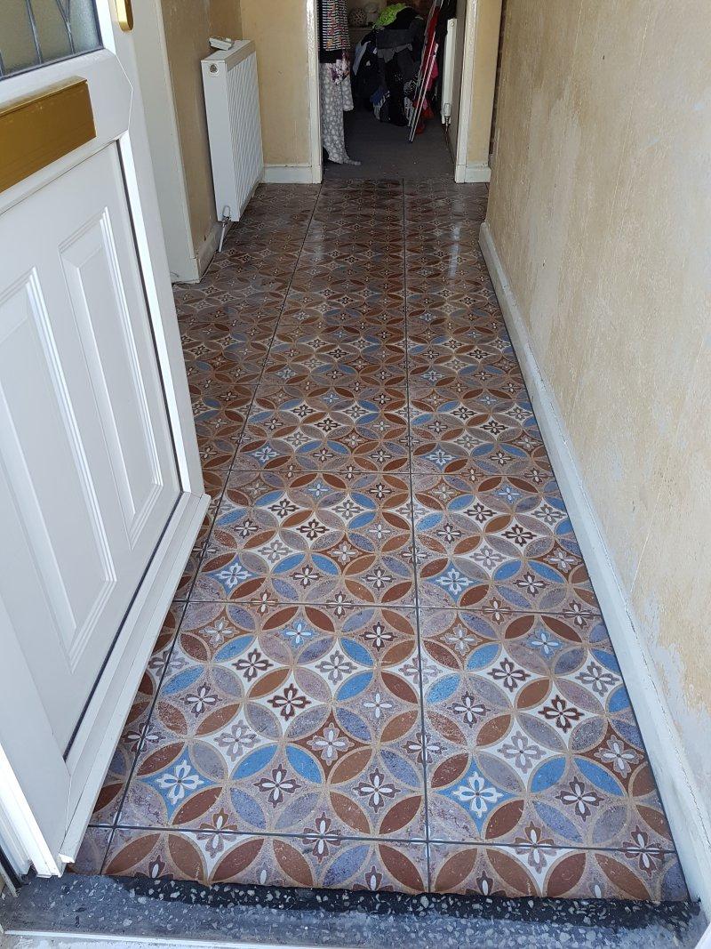 Hallway Floor Tiled By Tilers NW