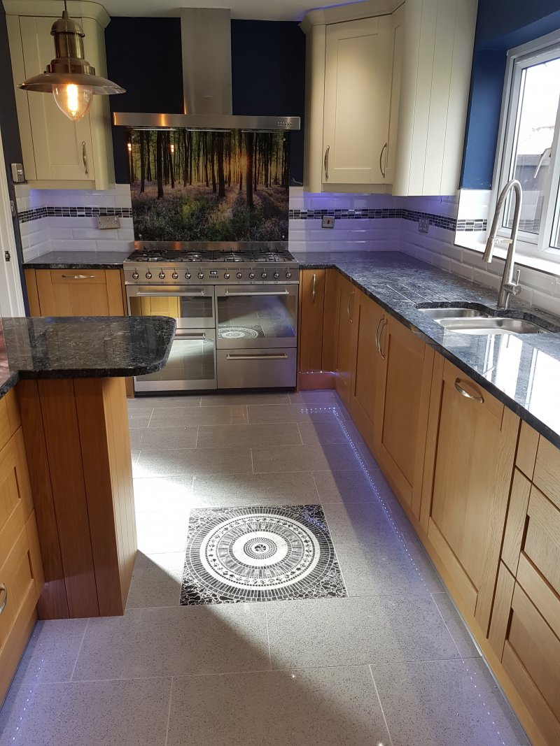 Kitchen Walls and Floor Tiled by Tilers NW