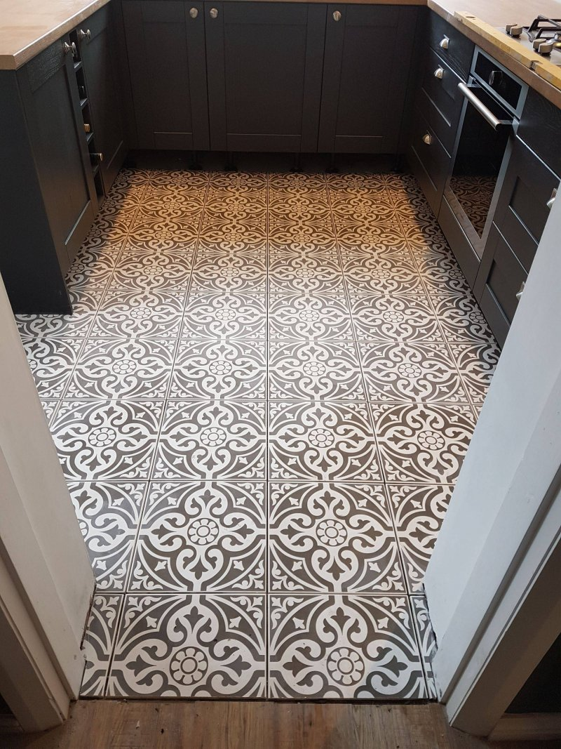 Kitchen Floor Tiled by Tilers NW