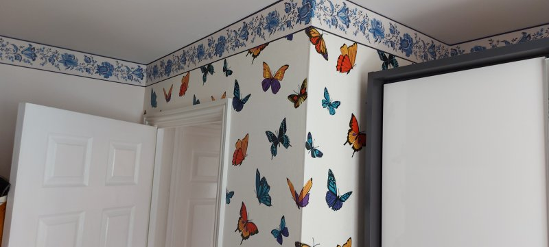 Wall papering alcove