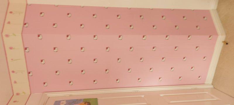 Wallpaper feature wall- girls