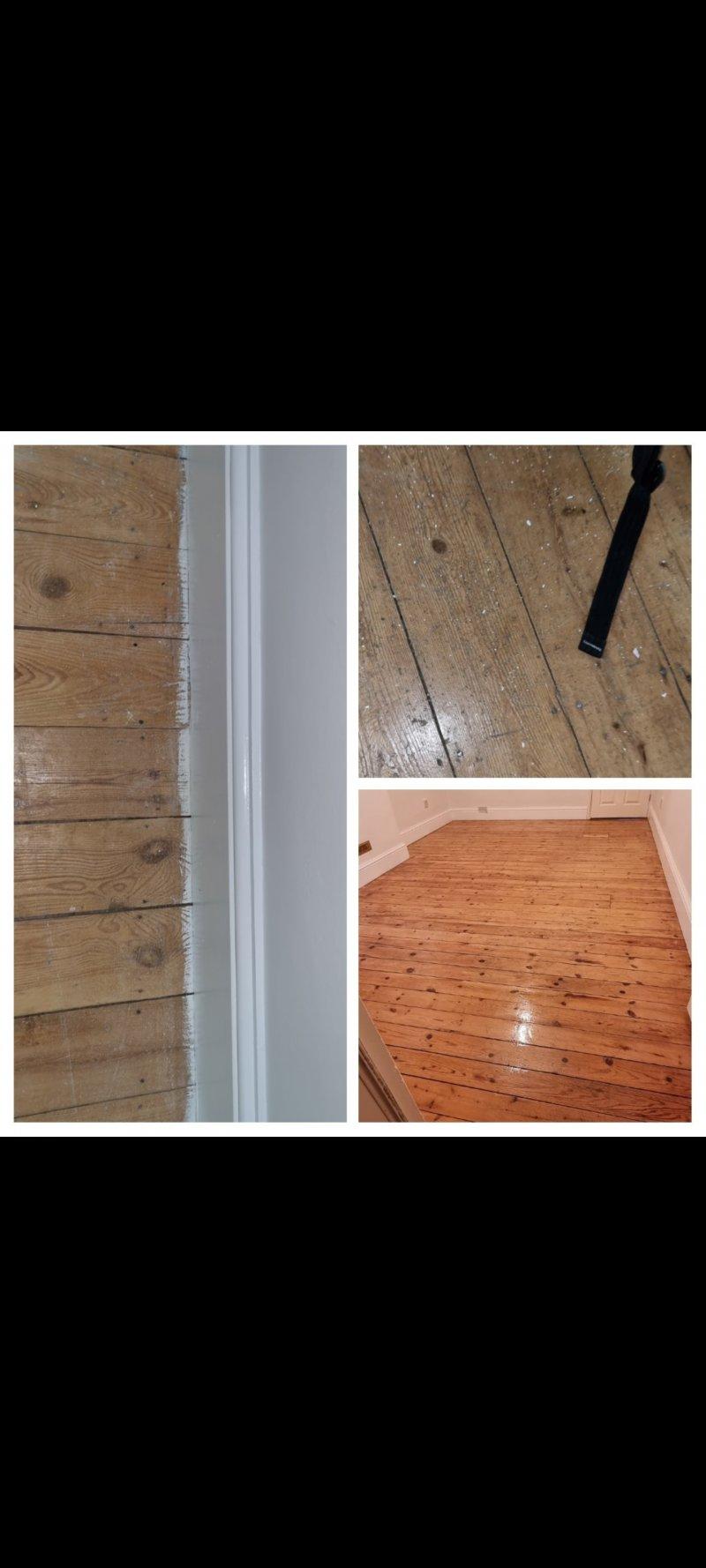 Restore wooden floorboards