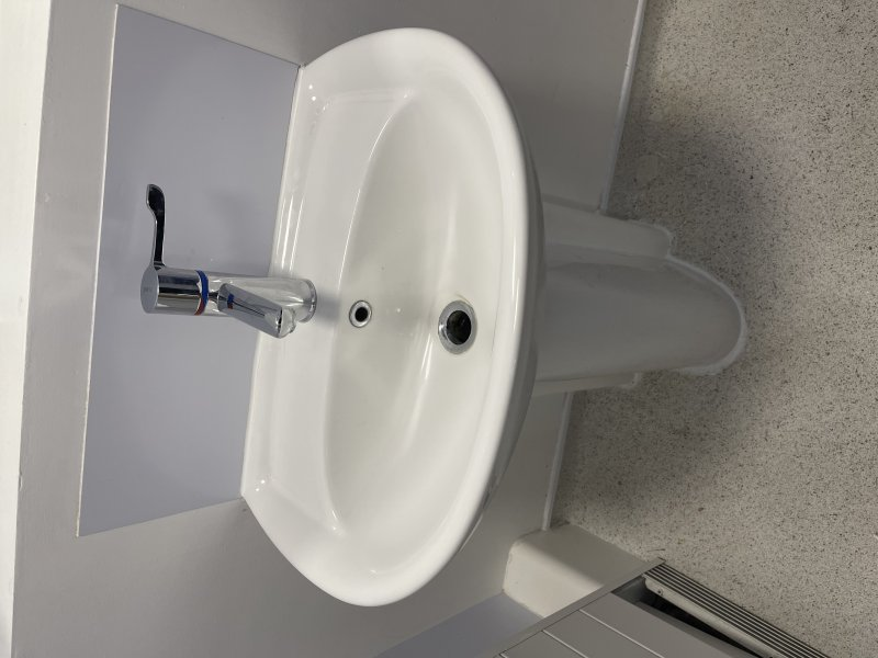 New basin and tap