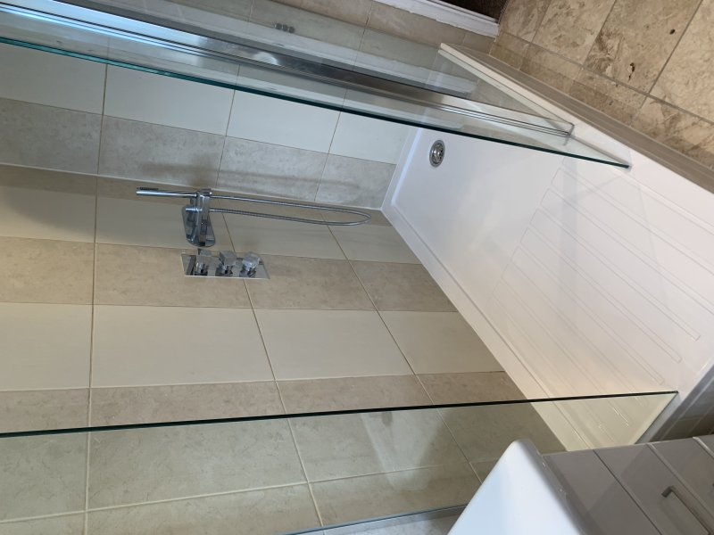 Shower fitted after bath removal
