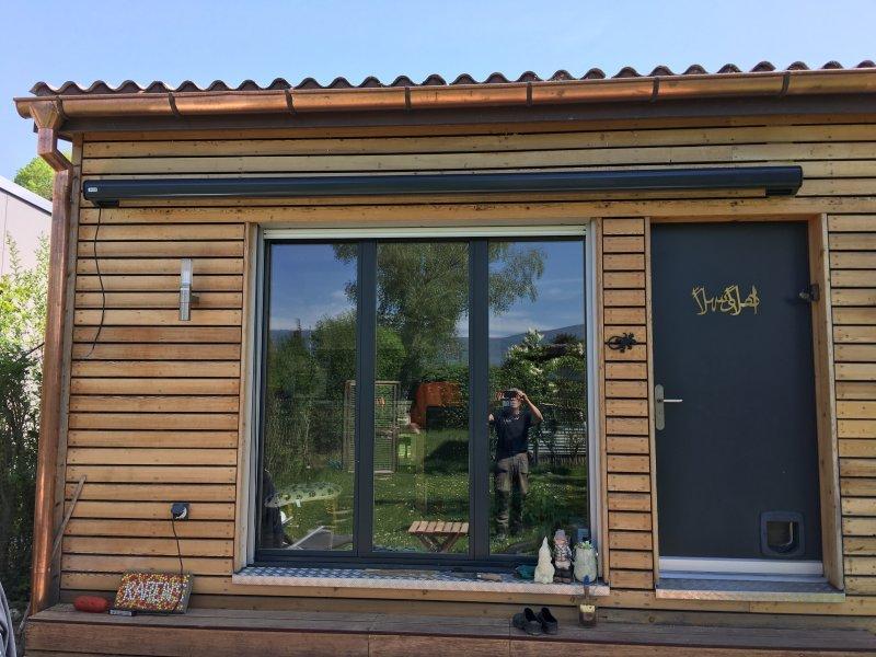 Store pack électrique  et rénovation bardage façade