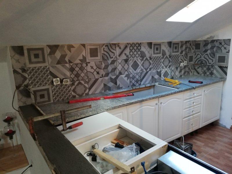 Montage cuisine, installation électriques,mur,carrelage